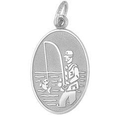 Fisherman Charm $25 Got any good fish tales?  http://www.charmnjewelry.com/category/n250/sterling_silver-Hobby_and_Profession_Charms.htm #SilverCharm  #CharmnJewelry  #RembrandtCharms