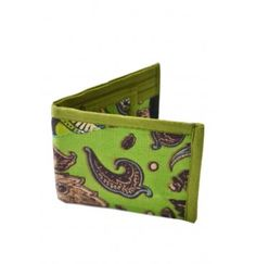 A unisex handcrafted wallet made from waste cloth to take care of your daily need to carry cash, various cards, driving license, metro cards and bus passes.  Please note that each wallet is handmade and hence there might be a slight variation in the patterns though the overall colour scheme shall remain the same.