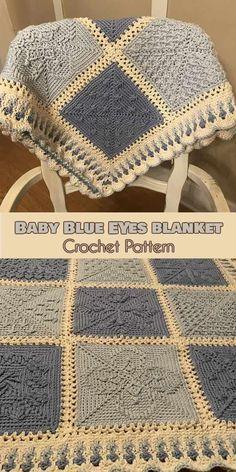 Baby Blue Eyes [Crochet Pattern] Stardust Melodies CAL Squares #crochet #lovecrochet #freepattern