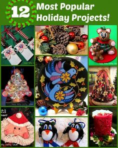 12 Top Holiday projects from Suzys Artsy Craftsy Sitcom!  Lots of great ideas!