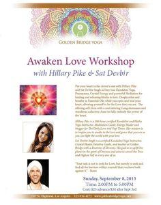 Awaken Love Kundalini Yoga Workshop with Hillary Pike at Golden Bridge Yoga in Hollywood!