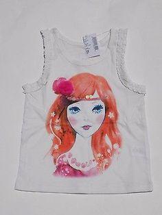 ♥ $4.99 More @salesfortoday ALSO CHECK OUT www.stores.ebay.com/jenscreationstx    TCP Girls Sleeveless Graphic Ruffle Tank- sz 4 XS - White