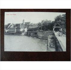 Switzerland Rheinfelden early vintage Photoglob postcard bridge and river