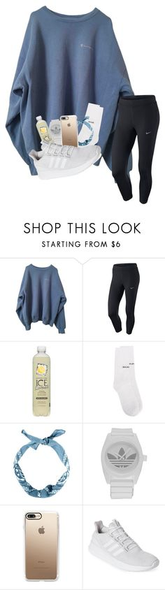 """ games"" by gracewicz1 ❤ liked on Polyvore featuring NIKE, Balenciaga, adidas and Casetify"