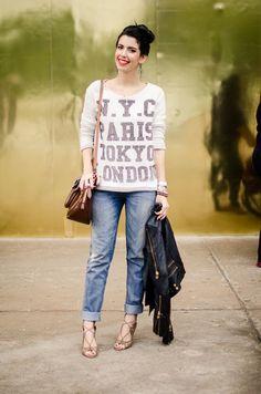 Hi Lo Jeans Moleton Sandalia e Jaqueta Jeans