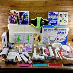 Nintendo Wii Console Massive Bundle Fitness Sports Pack Zumba 2 Remotes FitBoard Wii Games, Zumba, Nintendo Wii, Console, Packing, Shapes, Fitness, Sports, Fun