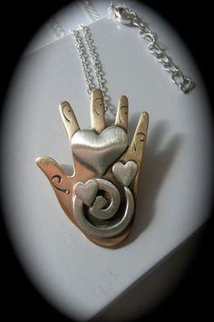 heart hand jewelry spirit art gift love spiral jewelryl