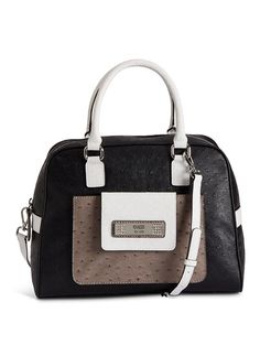 Milton Ostrich-Embossed Dome Satchel