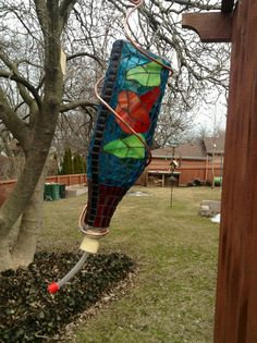 Hummingbird Feeder Stained Glass Mosaic. $19.00, via Etsy.