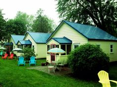 The Little Yellow Cottages are a Port Austin, MI favorite. 4 two bedroom cottages, and 1 one bedroom cottage for rent. Starts at $100/night, two night min.