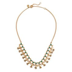 gold + green // Souk Necklace // Madewell