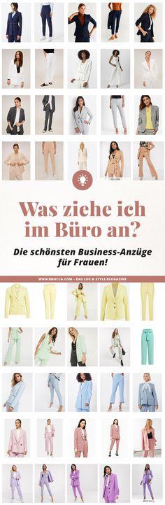Was ziehe ich im Büro an? Am Modeblog zeige ich dir die schönsten Business-Anzüge für Frauen und gehe dabei auch auf aktuelle Modetrends und zeitlose Klassiker ein. www.whoismocca.com #buerooutfit #modetrends #fruehjahrsmode #anzug #zweiteiler