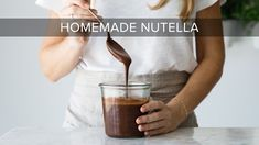 Learn how to make a healthy, homemade nutella that's dairy-free, vegan and paleo. The step-by-step tutorial video shows you just how easy it is! Vegan Recipes Videos, Other Recipes, Clean Recipes, Whole Food Recipes, Vegetarian Recipes, How To Make Nutella, How To Make Homemade, Paleo Dessert, Vegan Desserts