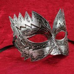 $25.00 Men's masquerade mask Titan in silver | magical masquerade