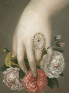 Hand with Roses and Lover's Eye - Fatima Ronquillo.