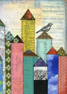I have an art journal that is devoted to collage with scraps and I love, love, love this idea.