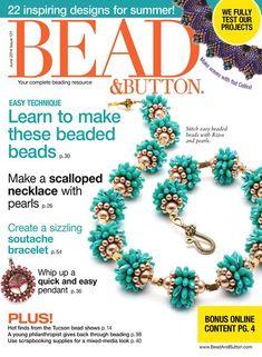 Bead and Button magazine Beaded bracelets Scalloped necklace Soutache Pendant Beaded Beads, Beaded Jewelry, Beaded Bracelets, Handmade Jewelry, Jewellery, Jewelry Findings, Soutache Bracelet, Soutache Pendant, Beading Patterns Free