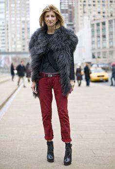 Sarah Rutson, Furry Vest   Street Fashion   Street Peeper   Global Street Fashion and Street Style