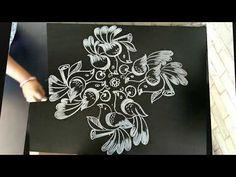 for more creative pongal rangolies please click below link. Indian Rangoli Designs, Rangoli Border Designs, Small Rangoli Design, Colorful Rangoli Designs, Rangoli Designs Images, Beautiful Rangoli Designs, Rangoli Borders, Rangoli Patterns, Rangoli Ideas