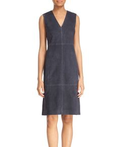 http://www.quickapparels.com/navy-blue-women-v-neck-suede-dress.html