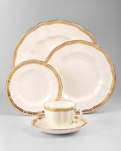 Royal Crown Derby Carlton Gold Tableware - Neiman Marcus