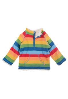 Engelchen flieg - Frugi Baby Plüsch Wendepulli - Snuggle Fleece Regenbogen