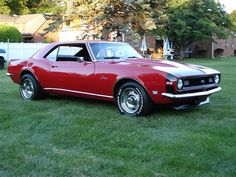 1968 Camaro SS. My fav muscle car, second is 69 mach 1, I owned in 86 to 88. Awesome. Love love the old muscle cars. Nothing will ever, ever come close to comparing.....