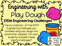This is a collection of five STEM Engineering challenges using play dough and a few other items.