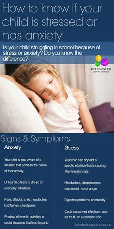 How to tell if your child has Stress or Anxiety | ilslearningcorner.com #anxiety #stress