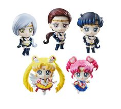 Sailor Moon Petit Chara Pretty Soldier Sammelfiguren 5er-Pack Sailor Stars 6 cm