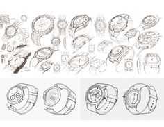 "During the sponsored class working with Fossil Men's watch team, my team designed four watch collections with packaging under the ""Retro Pilot"" theme, telling the story of the hero pilot Chuck Yeager. Product Design, Pilot, Sketches, Personalized Items, Retro, Art, Drawings, Art Background, Kunst"