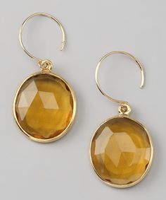 Take a look at this Amelia Rose Design Gold & Yellow Cabo Gem Earrings by Amelia Rose Design  on #zulily today!