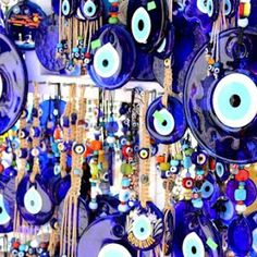 Evil eyes from Turkey & saw lots in Greece too, luv em! Souvenirs in Bodrum, Turkey: www. Feng Shui Cures, Look Into My Eyes, Dream Wall, Evil Eye Jewelry, Evil Eye Charm, Travel Memories, Art Of Living, Kusadasi, Day Trip