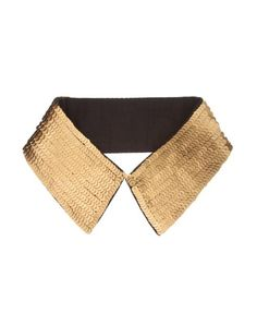 Golden Vintage Fake Collar with Sequins #collar #chicnova #gold #sequins #fashion