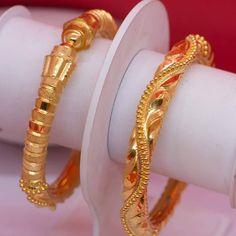Ali Baba Selani Gold and diamond suppliers Dubai. Gold Bangles Design, Gold Jewellery Design, 1 Gram Gold Jewellery, Gold Jewelry, Jewelry Design Earrings, Gold Earrings, Bangle Set, Bangle Bracelets, Ali Baba