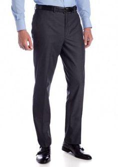 Tallia Orange  Slim Fit Gray Tic Suit Separate Pants