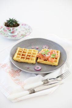 Waffle salati alle patate   #food #waffle