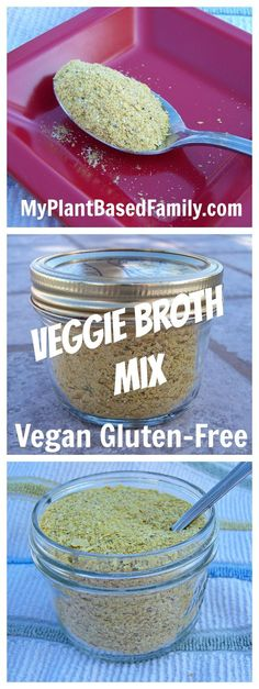 All you need to do for this Veggie Broth Mix recipe is to add water for the most incredible broth to use in all your favorite recipes. #vegan #glutenfree #easy