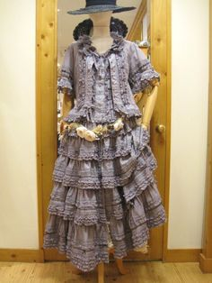 ピンクハウス Mori Girl Fashion, Funky Fashion, Womens Fashion, Doll Clothes Patterns, Clothing Patterns, Peasant Clothing, Gypsy Dresses, Pink Houses, Boho Look