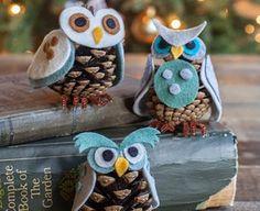 How To Make Felt Pinecone Owls