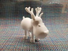 Deer from Articulated Christmas Toys printed by Douglas Roberts #toysandgames