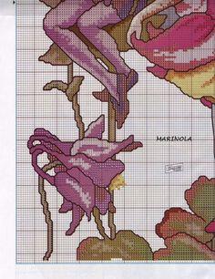 Cross stitch - fairies: Columbine fairy - Cicely Mary Barker (chart - part B1)