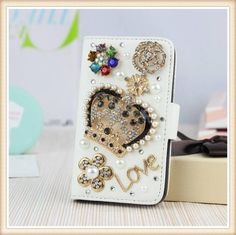 Royal Bling with Flowers! Iphone 5c, Apple Iphone, Apple My, Samsung Galaxy S3, Galaxy Note, Bling Bling, Cases, Wallet, Mini