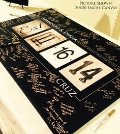 Personalized Wedding Alphabet Art Guest Book by alphabetcanvas