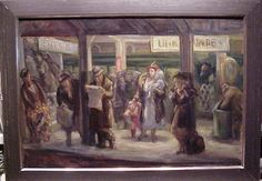 Waiting for the Express--Union Square, oil on canvas, x Don Freeman, Social Realism, Art Students League, Union Square, Oil On Canvas, Waiting, Christian, Illustration, Painted Canvas