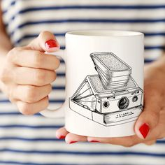 Polaroid Ceramic Mug by ClickandBlossom on Etsy