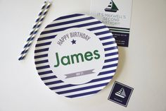 Child's Custom Birthday Plate, Custom Melamine Birthday Plate, Custom Birthday Plate Digital File for Melamine Plate