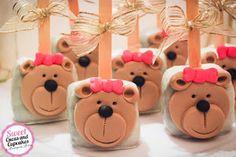 Sweet Cucas and Cupcakes by Rosângela Rolim: Pop Cake Grande Ursinha com laço