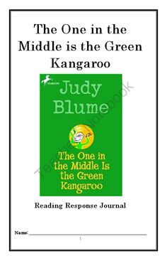 "The One in the Middle is the Green Kangaroo from McMarie on TeachersNotebook.com -  (17 pages)  - A fun, engaging, 17-page booklet-style Novel Study / Reading Comprehension Journal complete with a challenging, book-based Word Jumble, Word Search, and Maze.  Based upon Judy Blume's ""The One in the Middle is the Green Kangaroo."""