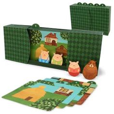 The Three Little Pigs,Toys,Paper Craft,Wolf,Fairytale ,Picture book,pig,Box Picture Book